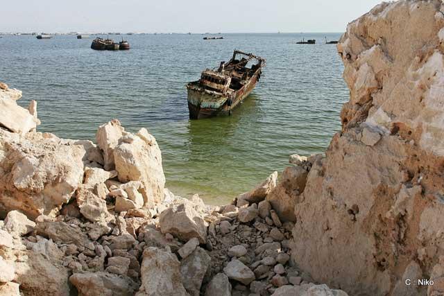 cementerio de barcos en Nouadhibou