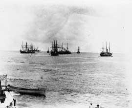 barcos en cuarentena en Samoa Americana