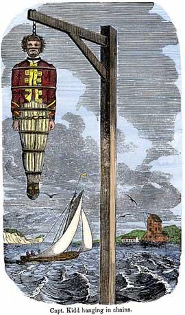 ejecución del capitán Kidd