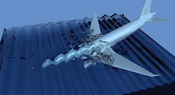 entrada en el agua del vuelo MH370 de Malaysia Airlines