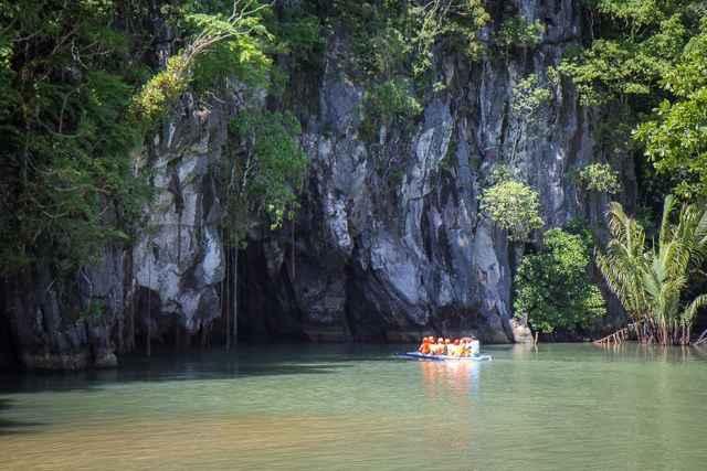 entrada al paisaje de Palawan, Filipinas