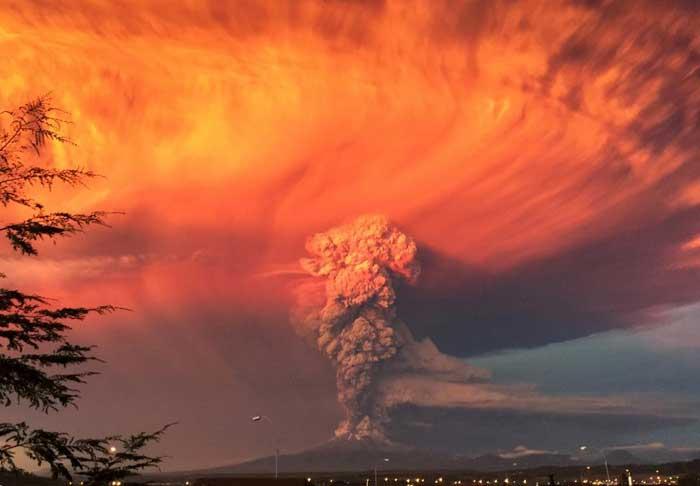 erupción del volcán Calbuco, Chile
