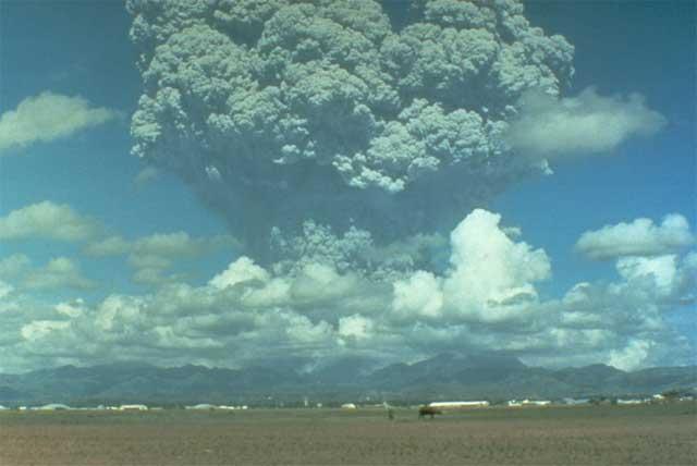 erupción volcán Pinatubo 12 junio 1991