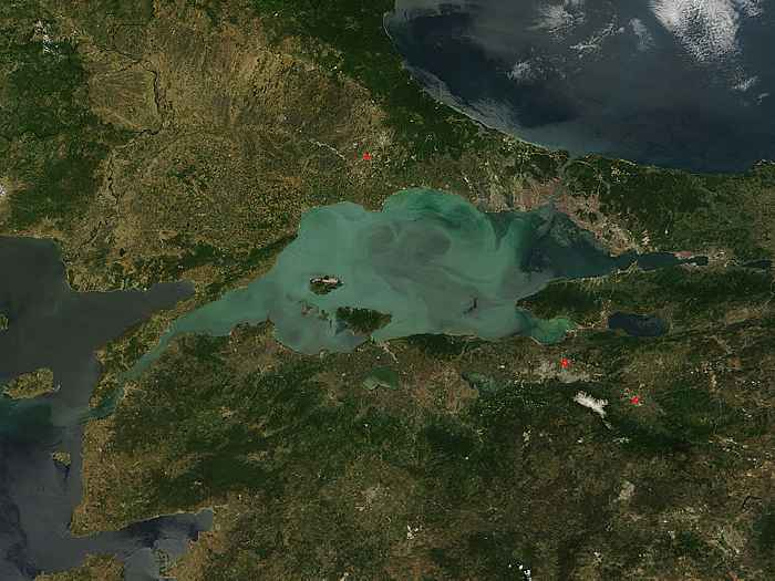 floración de diatomeas en el Mar de Mármara, 23 mayo