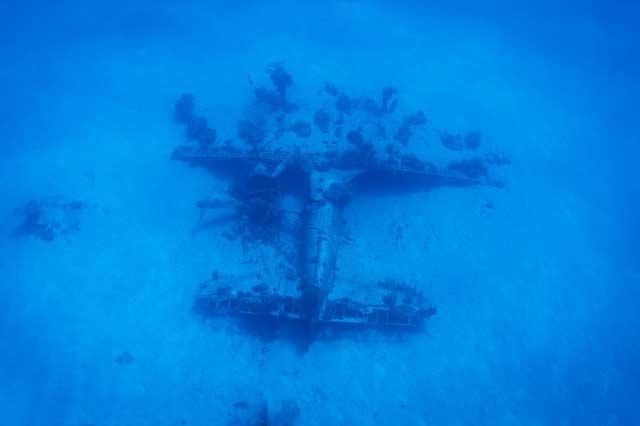 fortaleza volante hundido en el Pacífico