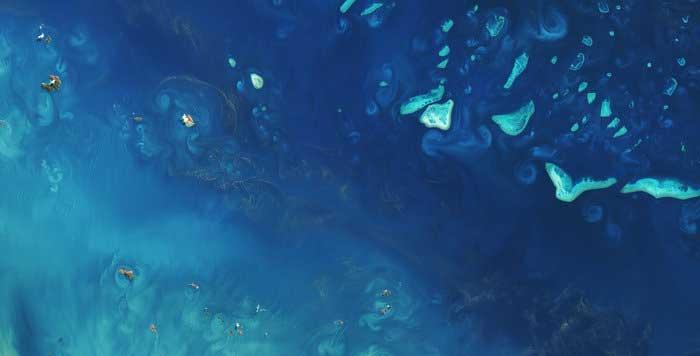 La Gran Barrera de Coral de Australia desde el espacio