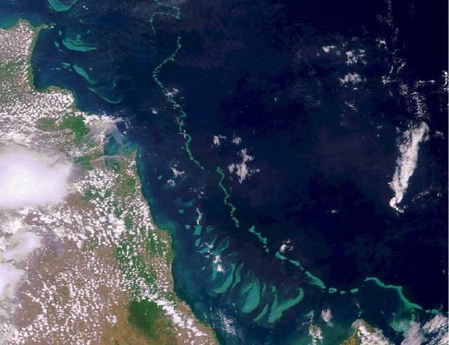 Gran Barrera de Coral desde la Estación Espacial