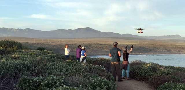 hexacopter para el estudio de ballenas grises