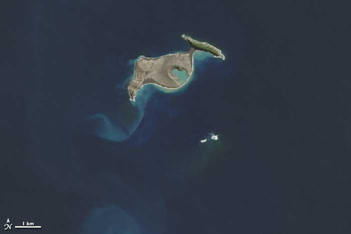 Hunga Tonga y Hunga Ha'apai unidas por la nueva isla