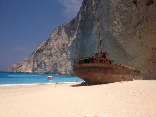 naufragio en la isla Zakynthos, Grecia
