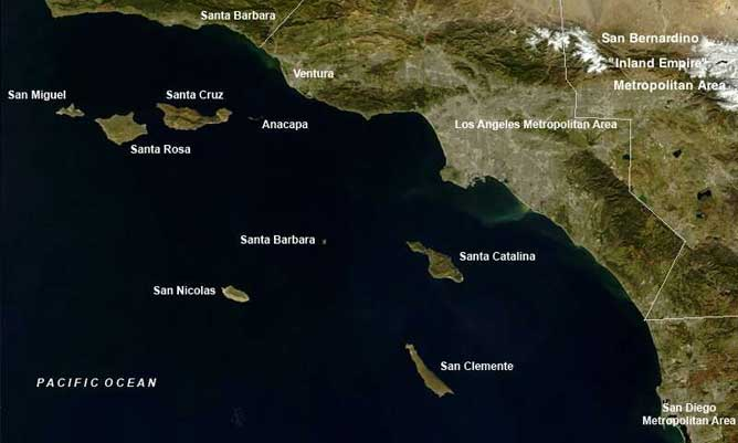 islas del Canal, California