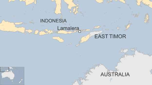 mapa de situación de Lamalera