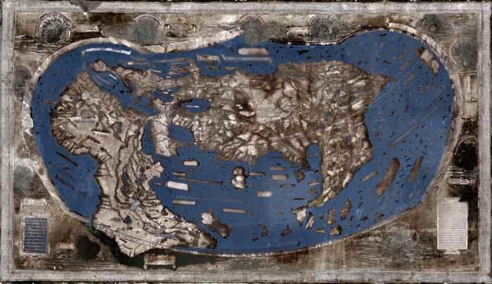 mapa multiespectral por Yale de Henricus Martellus