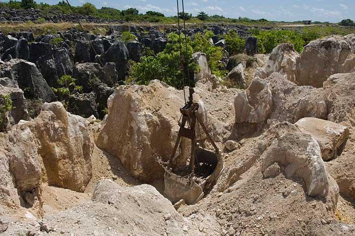 minería del fosfato en Nauru