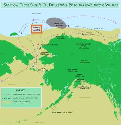 zona de perforación de Shell en el Ático