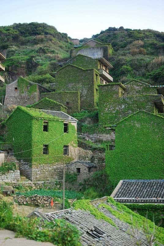 Un pueblo pesquero abandonado en la isla Gouqi, China