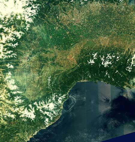 la Riviera francesa vista por el Sentinel-2A