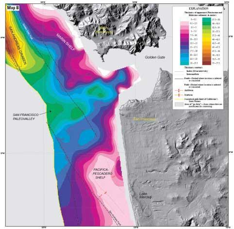 sedimentos en la costa de San Francisco