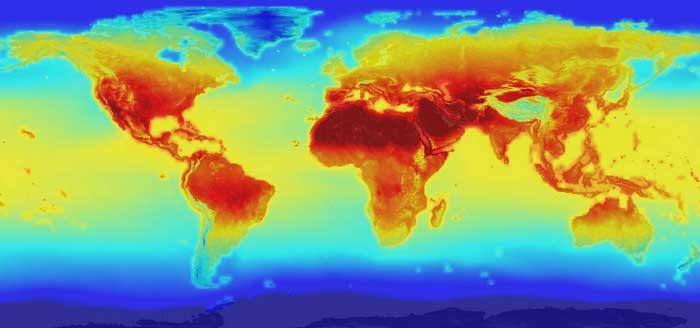 temperaturas mundiales en el año 2100