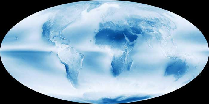 La Tierra es nublada