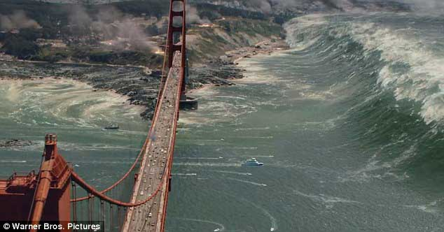 tsunami en la película San Andreas