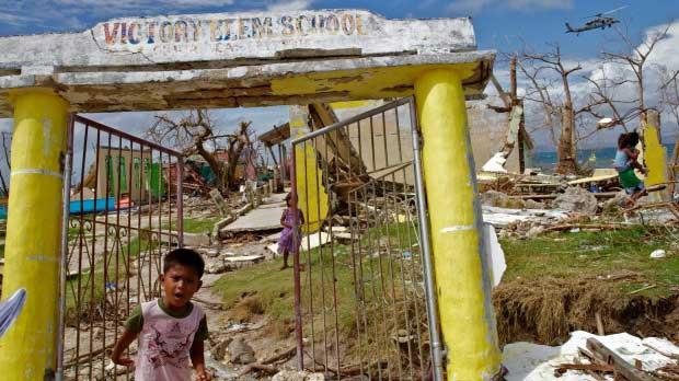 Victory Island tras el súper tifón Haiyan