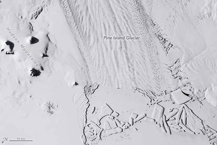 Glaciar Pine Island desde satélite