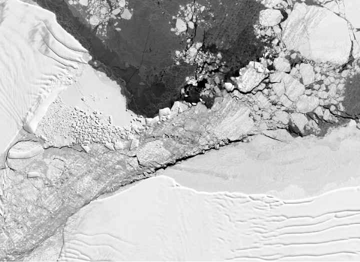 área del iceberg rectangular
