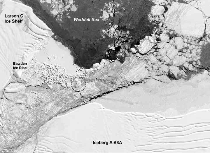zona de roturas del iceberg rectangular