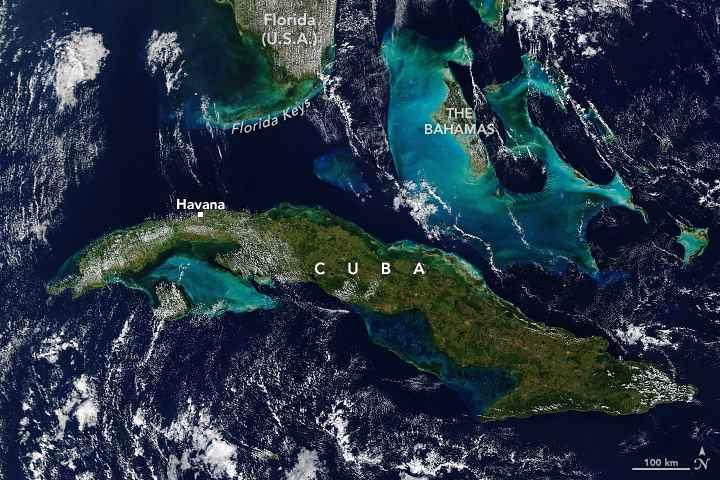Cuba desde satélite