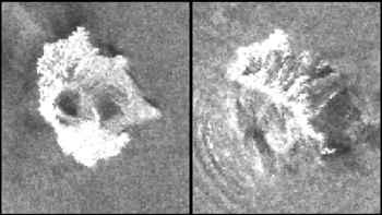 derrumbe en el volcán Anak Krakaktau, detalle