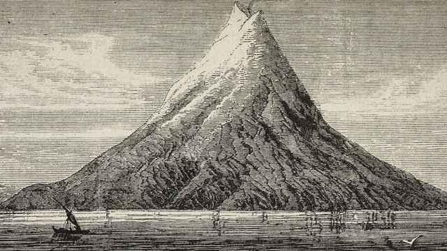 erupción del volcán Krakatoa en 1883