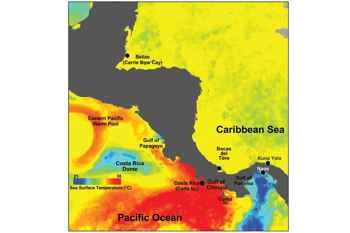 zona de estudio en el Golfo de Panamá