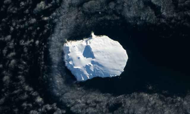 la isla Bouvet desde la ISS