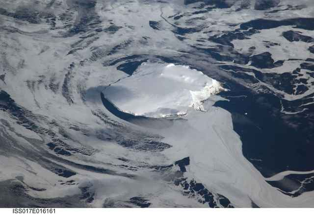 isla Bouvet desde la ISS