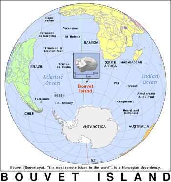 localización de la isla Bouvet