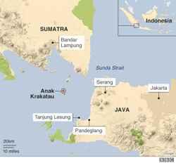 mapa del estrecho de Sonda