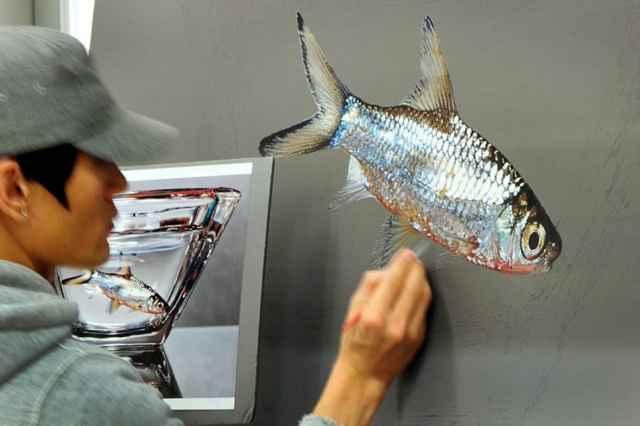 pez hiperrealista