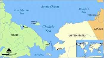 situación de la isla de Wrangel