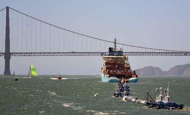 transporte de Ocean Cleanup