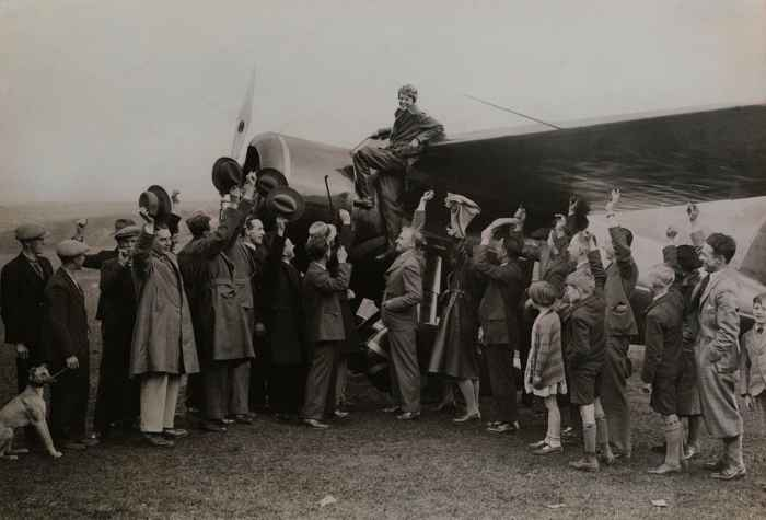 Amelia Earhart en Irlanda en 1932