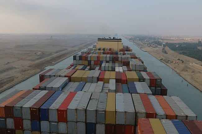 MSC GULSUN cruza en Canal de Suez