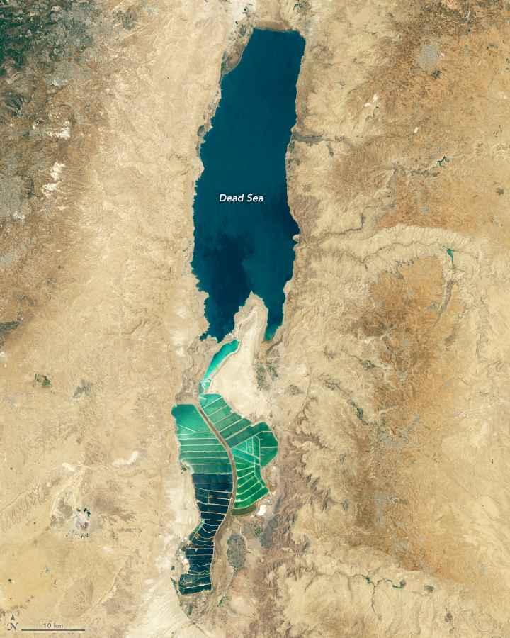 el Mar Muerto desde satelite