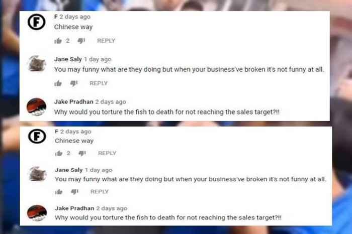 chinos comen pescado vivo, reacciones en Twitter