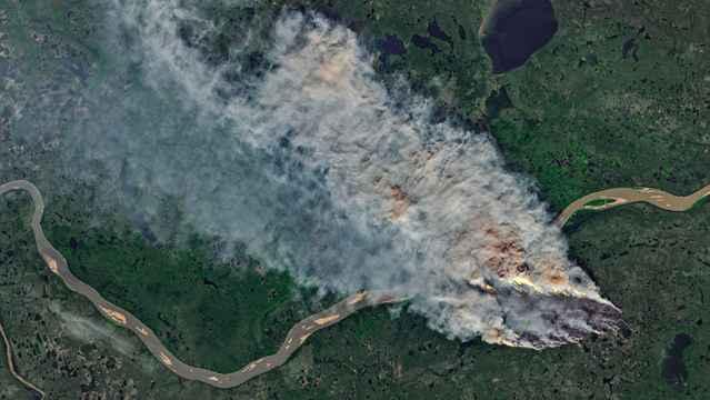 incendio en el Ártico canadiense