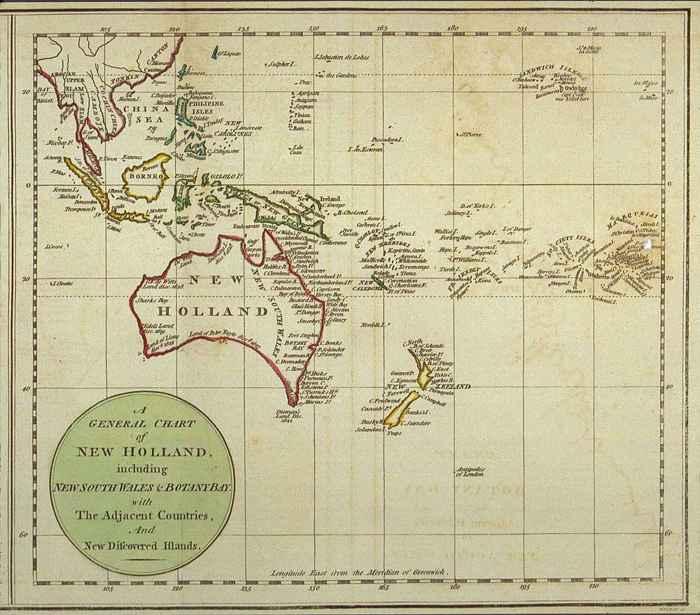 mapa de Nueva Holanda