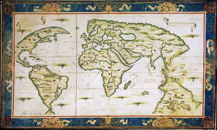 mapa del mundo de Nicolas Desliens