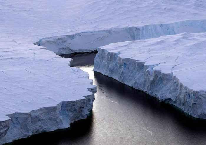 placas de hielo en la Antártida