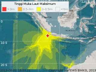propagación olas del tsumani de Indonesia