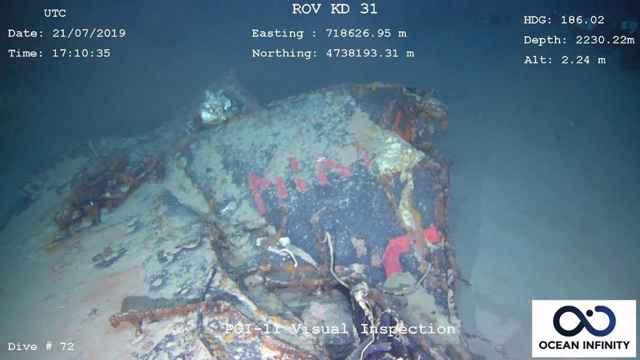 restos del submarino Minerve